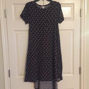 LuLaRoe Black & Taupe Carly Dress